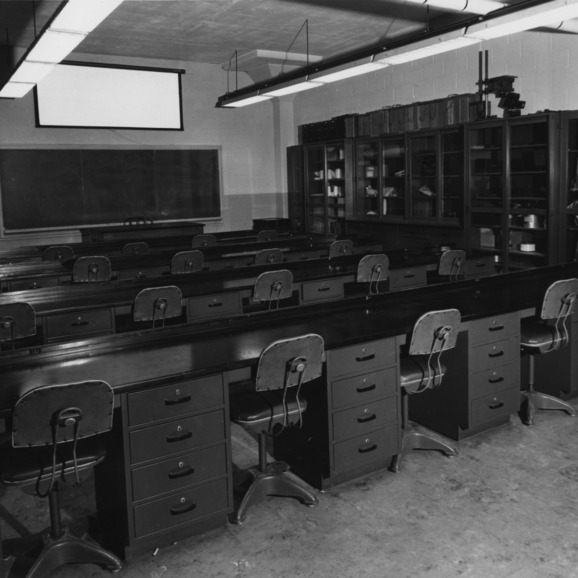 Classroom in the School of Textiles at North Carolina State College
