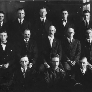 Textile class and faculty, 1919