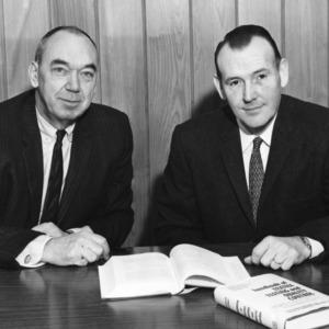 Department Head Elliot B. Grover and Professor Dame Hamby