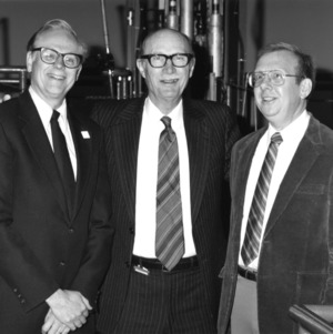 Thomas Elleman, Dr. Raymond L. Murray, and Paul Turinsky at reactor
