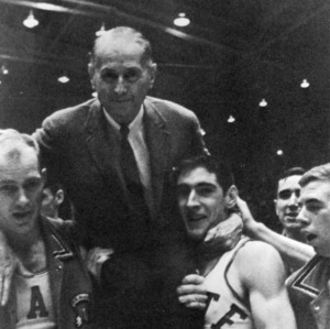 Coach Everett Case and his players