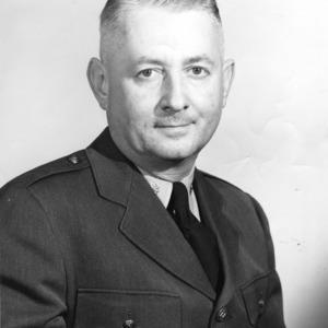 N.C. State Basketball Coach Everett Case in military uniform