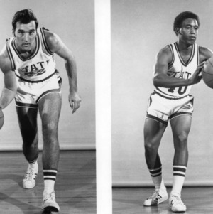 C. K. Holdt and Carl Lile, N. C. State basketball players