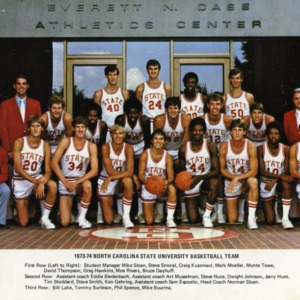 1973-1974 NCAA champs N.C. State University men's basketball team