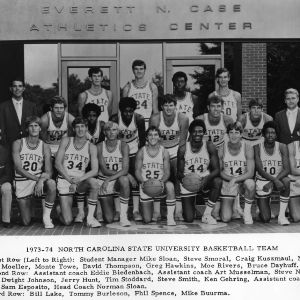 1973-1974 NCAA champs N. C. State basketball team