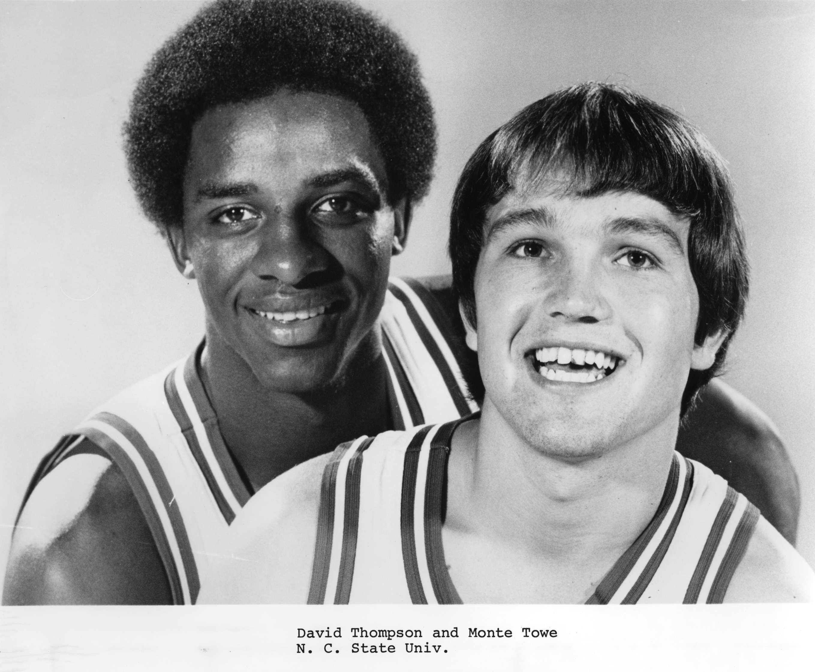 David Thompson and Monte Towe, N.C. State University basketball
