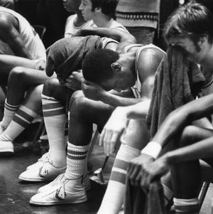 '78 team, N.C. State Univ. [on sidelines after loss?]