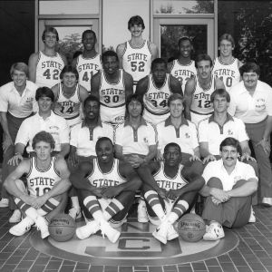1980-1981 N.C. State University basketball team, Raleigh, N.C.