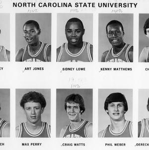 N.C. State University basketball players