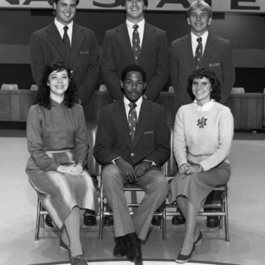 1983-1984 N.C. State University basketball managers