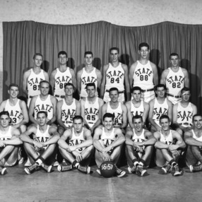 N.C. State College basketball team, 1956
