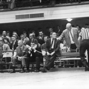 N.C. State bench with Everett Case
