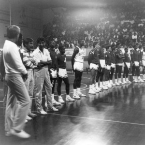 N.C. State basketball game in Greece, 1984