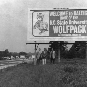 """Welcome To Raleigh"" billboard"