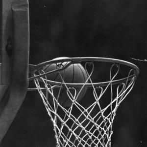 Basketball misses the rim