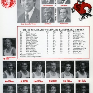 1984-1985 N.C. State Wolfpack basketball roster