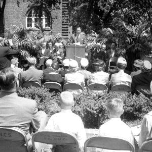 Dedication ceremony for the Alumni Memorial Building, May 2, 1959.