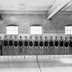 Swim team, 1937