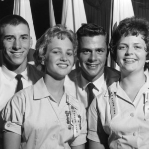 1962 North Carolina State 4-H Council officers