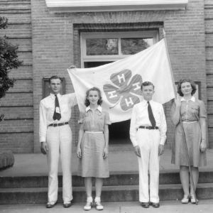 1941 North Carolina State 4-H Council officers standing at the North Carolina State 4-H Short Course