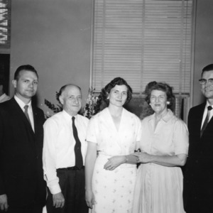 4-H leaders, including L. R. Harrill (second from left)