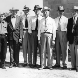 Group of extension agents standing outside