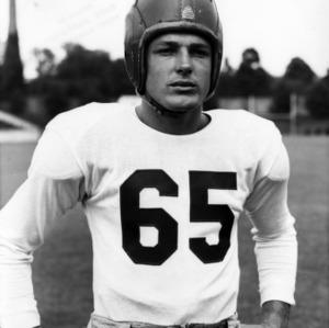 N. C. State football player George Blomquist