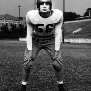 N. C. State football player Bob Bowlby