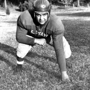 N. C. State football player Joe Daneu