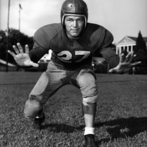 N. C. State football player Bob Edwards