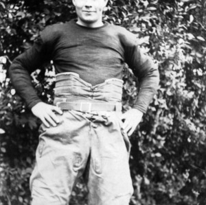 N. C. State football player Bill Ellerbie
