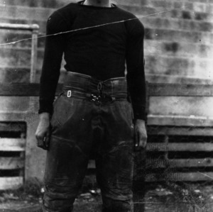N. C. State football player Dutch Holland