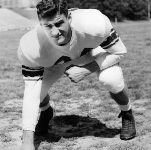 N. C. State football player Harry Lodge
