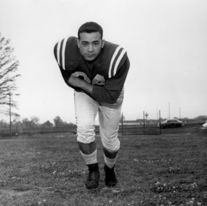 N. C. State football player Joe Maccarons