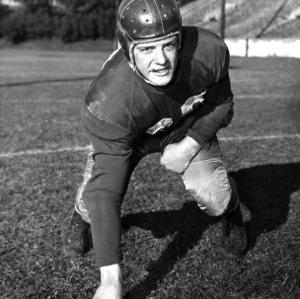 N. C. State football player Tom Morse