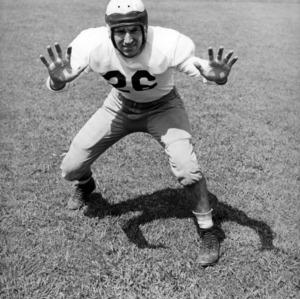 N. C. State football player Peebles