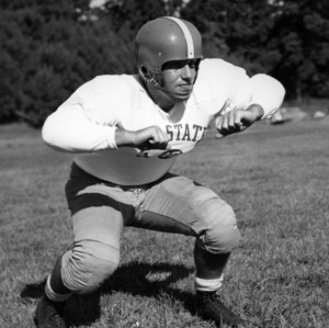 N. C. State football player Walter Schacht