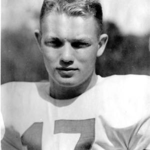 N. C. State football player Eddie West