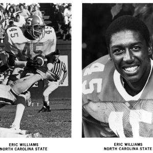 N. C. State football player Eric Williams