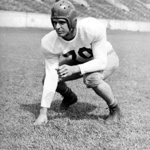 N. C. State football player Bill Zick