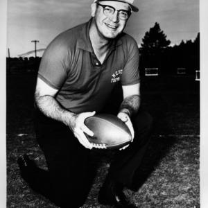 N. C. State football coach Earle Edwards