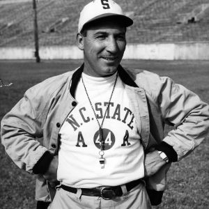 N. C. State football coach Beattie Feathers