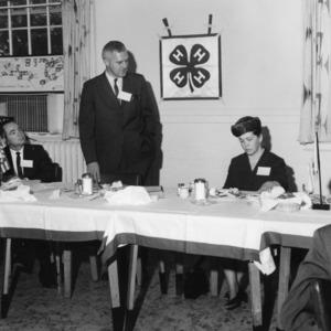 T. Carlton Blalock, Dr. Joe Pou, and Mrs. Tom Preston, at dinner event for the N.C. Development Fund