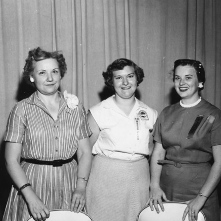 Charlotte Jones (middle) was the state winner in fruits and vegetables in the late 1950s