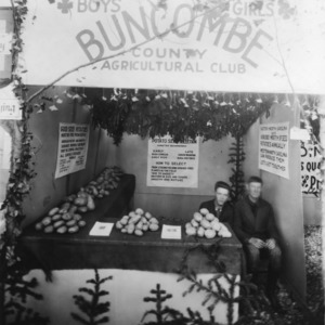 Buncombe County Boys and Girls Agricultural Club's potato display at the NC State Fair
