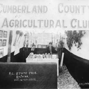Cumberland County Agricultural Club display at the 1922 NC State Fair