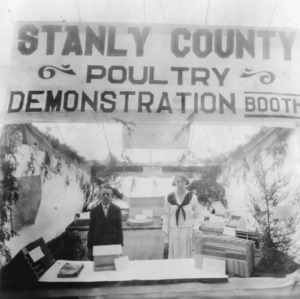 Stanly County poultry demonstration display at NC State Fair
