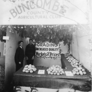 Buncombe County Boys and Girls Agricultural Club's display at the NC State Fair
