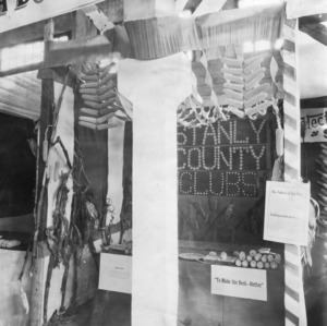 Stanly County, North Carolina, State Fair display
