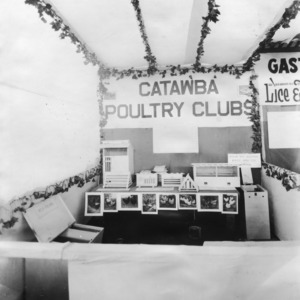 Catawba County poultry clubs, North Carolina State Fair display